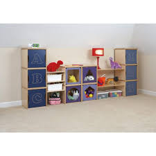 mini playroom with wall rage units and red table lamp bins base sterilite clear plastic light beige carpet floors originalviews children educational pri
