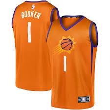 Devin booker jerseys are stocked in suns styles at fanatics.com. Men S Phoenix Suns Devin Booker Fanatics Branded Orange Fast Break Team Replica Jersey Statement Edition
