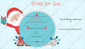 christmas certificates templates jovial santa christmas gift certificate template