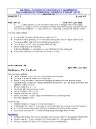 34509634 experienced electrical engineer cv bangalore