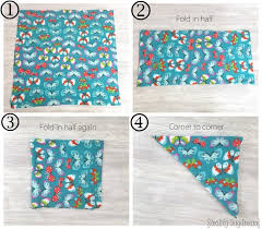 how to fold the fabric for your car seat poncho