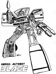 Transformers Autobot Blaze Coloring Page Fanart Coloring Pages Boys