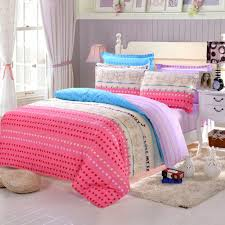Lovely Simple Pink Heart Printed Bedding With Purple Colored Beadboard 2017 Cute  Themed Bedroom For A Girl Pictures Girly
