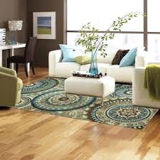 teal rugs for living room new modern medallion area rug teal blue brown cream living decorating