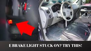 2006 Ford F150 Parking Brake Light Stays On How To Fix The Emergency Brake Light On A 2006 Ford F150