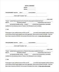 Lease Agreement Example Apartment Rental Agreement 8 Free Word Pdf Documents
