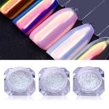02 G Na Nehty Glitter Chrome Prášek Chrome Pigment Nail Art Prášek Manicue Dekorace