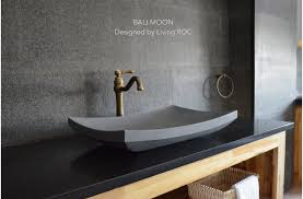 concrete vessel sink. Modren Concrete 24u0027u0027 Gray Basalt Natural Stone Bathroom Vessel Sink  BALI MOON And Concrete