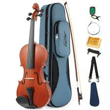 Eastar EVA-1 <b>4/4 Full-Size Natural</b> Violin with Hard Case, Shoulder ...