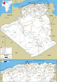 detailed clear large road map of algeria  ezilon maps