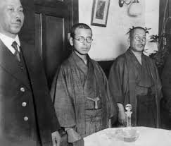 militarist s essay praising writer higuchi offers rare look convicted military police officer masahiko amakasu center attends a press conference on nov