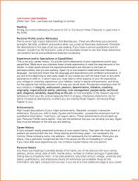 Example Of Personal Statement For Resume Resumes Personal Statements Resume Statement Examples Is Elegant 24