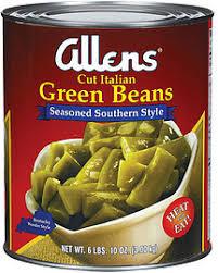 allens green beans cut italian seasoned southern style 106 0 oz nutrition information well