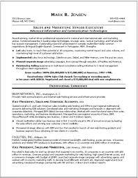 Sales Marketing Resume Impressive Marketing Executive Resume Samples Sample 44AFTER Mark R Jensen Best