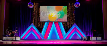 church lighting design ideas. Stacked Triangles Church Stage Design Ideas In Lighting