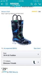 Western Chief Toddler Rain Boots Size Chart Western Chief Light Up Rain Boots Like New For Sale In