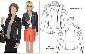 ziggi jacket sewing pattern jacket vest coat sewing patterns style arc