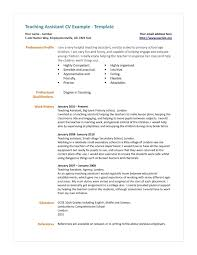 Teacher Assistant Resume Examples Resume Templates