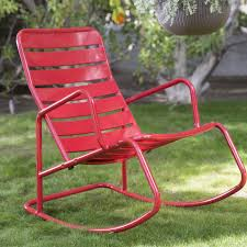 under 100 dollars the perfect fun red outdoor rocking chair idea