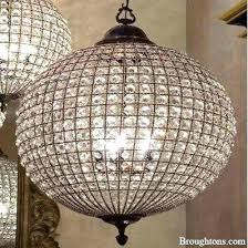 crystal sphere chandelier crystal globe chandelier antique brass large metal crystal ball chandelier