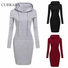 CURRADA 2018 <b>Fashion Hooded Drawstring Fleeces</b> Women ...