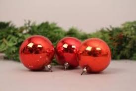 Details Zu Christbaumschmuck Weihnachtskugeln Rot 3 Stk Alt Deko Set Weihnachten