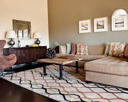 inspiration for a contemporary living room remodel in austin with beige walls accent wall patterns