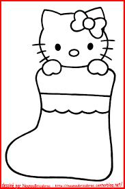 Hello Kitty Dans Un Chausson De No L Colorier Centerblog