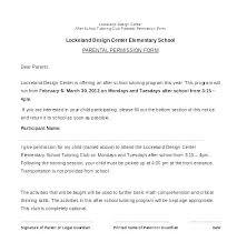 Permission Slip Forms Template Parent Permission Slip Template Generic Permission Slip For