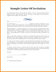 Official Mails Sample Formal Invitation Letter Sample For An Event Invitation