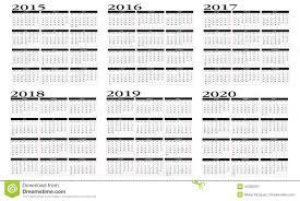 jahrskalender 2015 kalender 2015 2020 vektor abbildung illustration von feiertag