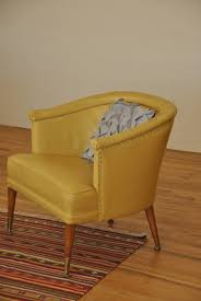 mid century yellow club chair