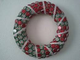 Decorated Bottle Caps 60 DIY Booze Inspired Christmas Decorations 14