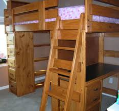 Wood Bunk Beds With Desk And Dresser - Beds : Home Furniture .