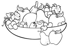 Pear Fruit Coloring Pages Funny Fruits Coconut And Page Book Cute F