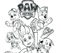Paw Patrol And The Dogs Coloring Pages Marshall Page Chase