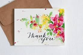 Blank Thank You Notes Hand Lettered Wedding Thank You Card Thanks Thank You