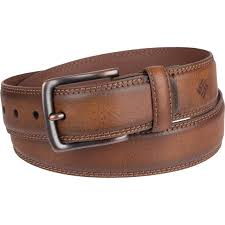 columbia men s casual leather belt