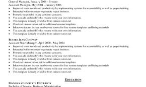 Instant Resume Templates Sample Retail Manager Resume