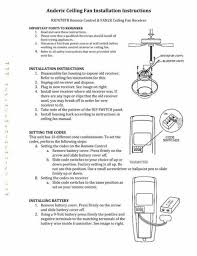 ceiling fan remote receiver wiring