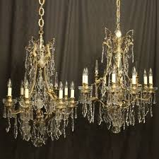 french pair of bronze antique chandeliers