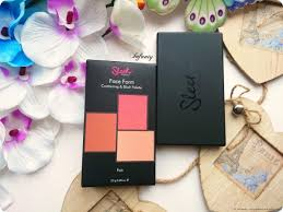 sleek face form contouring blush palette