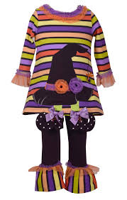 Bonnie Jean Witch Hat Halloween Tunic And Leggings Set