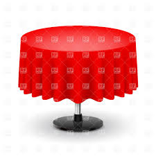 classic round table with red tablecloth vector image vector artwork of objects dvarg to zoom