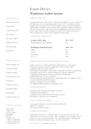 Warehouse Resume Template Classy Warehouse Associate Resume Sample Noxdefense