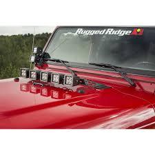 1997 Jeep Cherokee Light Bar Light Bar Hood Mounted 97 06 Jeep Wrangler Tj
