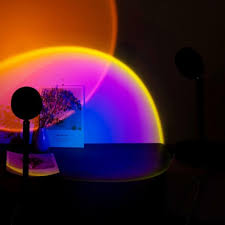 Here's where you'll find <b>sunset projection</b> lamps - Elle Muse