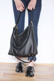 black leather hobo bags