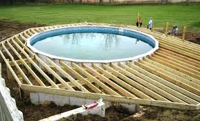 ideas for above ground pools deck pool swimming decks designs images of o17