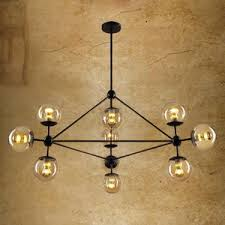 industrial chic lighting. Chic 10-Light Hand Blown Glass Industrial Ceiling Lighting Industrial Chic Lighting R